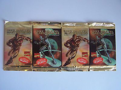 Marvel Masterpieces Series 2 Trading Cards 1993 - 4 Packs
