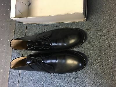 Black Leather George Boots  Size  10 - Clearance