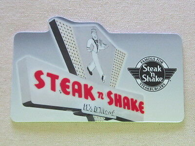 1 Steak N Shake Collectible Gift Card Free Shipping