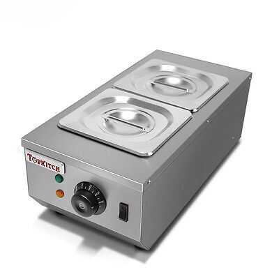 Commercial 2 Tanks Chocolate Melting Pot Electric Hot Chocolate Melter 220V Y