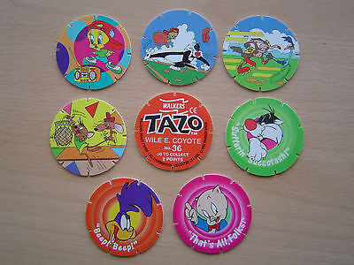 8 Walkers Tazos - Looney Tunes