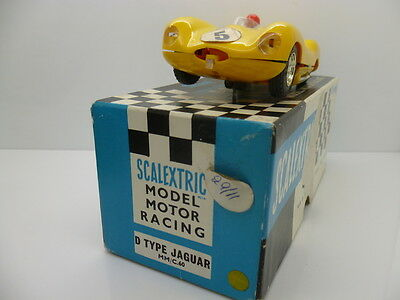 Scalextric C60 D Type Jaguar in yellow, unmarked! and boxed
