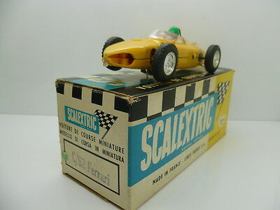 Scalextric C62 made in France Ferrari C62, mint condition and french box