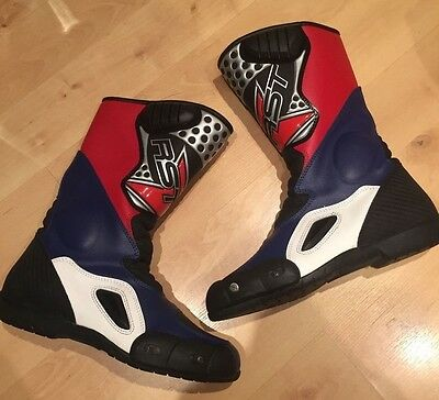 RST Motorbike boots size 8 - 42 blue red white black