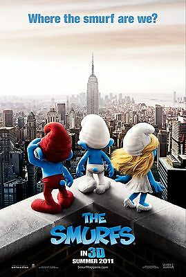 The Smurfs  Laminated Mini Movie Poster Style 2