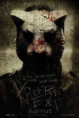 You're Next Laminated Mini Horror Movie Poster A4 Size