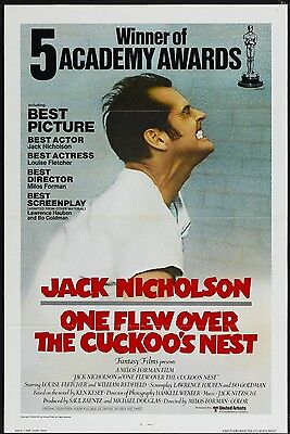 One Flew Over The Cuckoos Nest Laminated Mini  Repro Movie A4 Poster Style 2