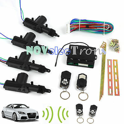 2/4Door Remote Control Car Central Locking Fob Security System Keyless Entry Kit