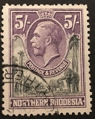 NORTHERN RHODESIA. 1925-1929. KGV. Classic Used Stamp. 5s. SG 14.