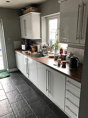White Gloss Kitchen Units