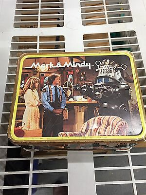 Mork And Mindy 1979 Tin Lunchbox & Thermos In Very Good Condition