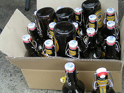 Home brew swing flip top bottles, 19 x 0.33L, used once, Melb. Knox
