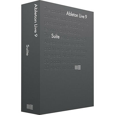 Ableton Live 9 Suite - Complete Music Production Library DAW - New Boxed