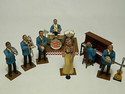 54mm painted dance band figures
