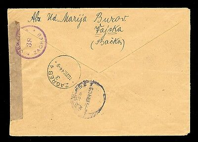 Croatia (Ndh) Wwii - Letter Sent By Registered Mail From Vajszka To Zagreb, Cens