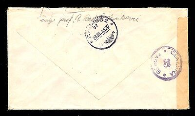 Croatia (Ndh) Wwii - Letter Sent By Registered Mail From Vinkovci To Zagreb, Cen