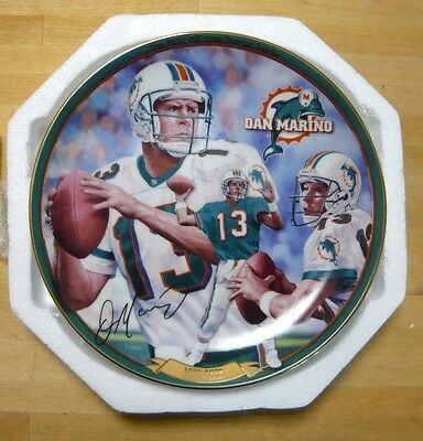 Bradford Exchange Plate - DAN MARINO, Dolphins - All-Time NFL Passing Leader