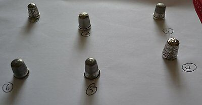 Six Solid Silver Thimbles(3 Chester)