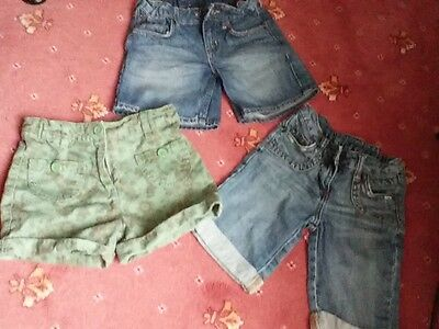 Girls Shorts X 3 Age 6-7 and 7-8.