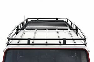 LAND ROVER DEFENDER 110 Expedition style Roof Rack - black. UK MADE-RE/D110ROOF