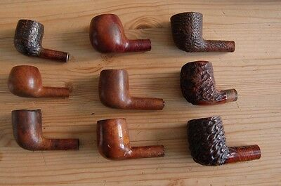 9 x Old Wooden Smokers Tobacco Pipe Heads