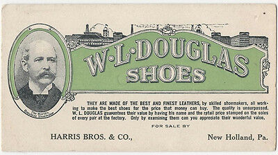 New Holland Pennsylvania 1920s - W.L. Douglas Shoes Advertising Blotter