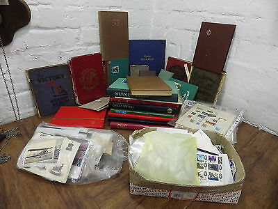 Large Vintage World And Uk Stamp Collection Albums Stock Books 1000's Of Stamps