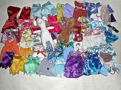 Angelina Ballerina & Alice 2 Toy Dolls/mice +45 Pieces Of Clothing/accessories