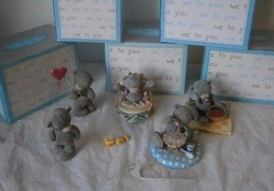 Me to you Teddy Bear Collectables x5 Figures job lot bundle Boxed Sweet Dessert