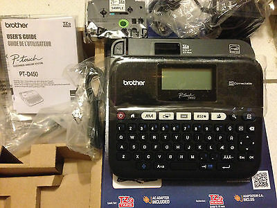 PT-D450 Brother Electronic Labeling System -Label Printer w/ USB to PC-- NIB