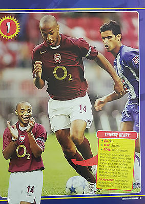 MATCH Football Magazine Annual picture - Arsenal THIERRY HENRY Burgundy Kit