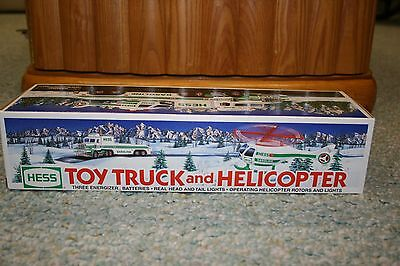 1995 Hess Toy Truck and Helicopter      New in the Box !
