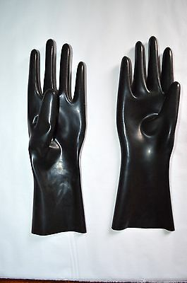 Latex Short Gloves. X-Small. Moulded/Fetish/Rubber/S+M/