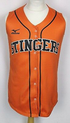 #33 South Georgia Stingers Sleeveless Baseball Jersey Shirt Mens Small Mizuno
