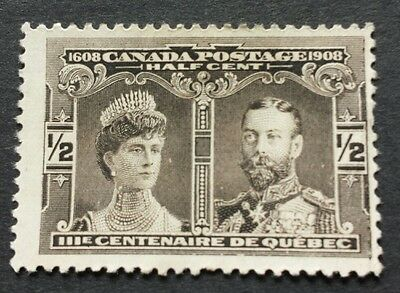 Canada Stamps 1908. 1/2 Cent Brown Mint