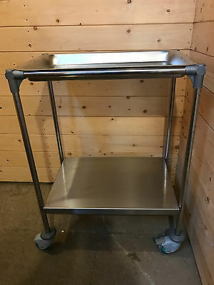 Clinical medical surgical stainless steel trolley