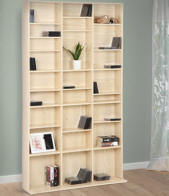 CD & DVD Stand Wall Mounted Adjustable Shelves Sturdy Stable Storage Racks