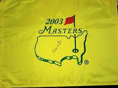 2003 Masters flag signed Mike Weir Augusta National
