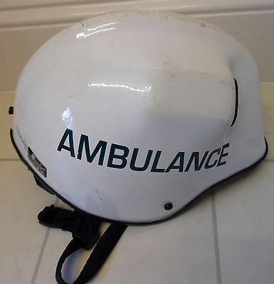 Ambulance/Paramedic Helmet (Pacific Helmets) Kevlar. With torch fitting