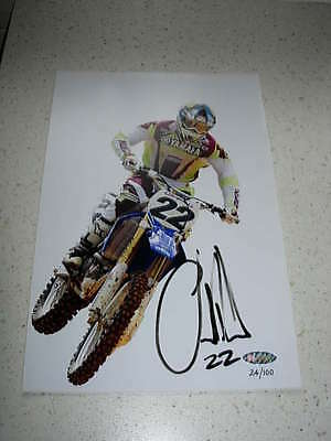limited edition photo of chad reed, signed by him, with c.o.a