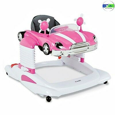 Baby Activity Car Combi Mobile Entertainer Jumper Kids Stationary Play Tray Pink