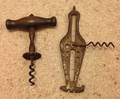 Victorian Corkscrew And Another Corkscrew Gadget
