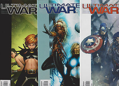Ultimate War #1,2,4 (2003,Marvel)Set, XMEN,AVENGERS, AWESOME!!!SO SMOOTH!!