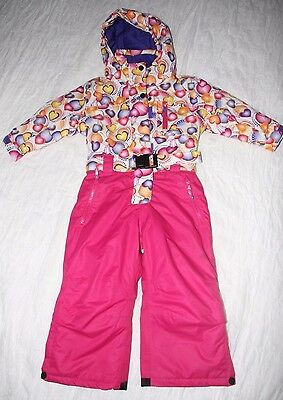 Rodeo pink chart 1 piece  girls ski snow suit size 3 year old