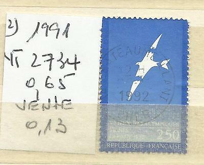 Timbre France Oblitere Annee 1991 N° 2734 (2)