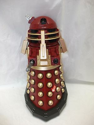 """Remote Control Red & Gold Dalek ~ 14"""" Tall ~ Dr Who Toy"""