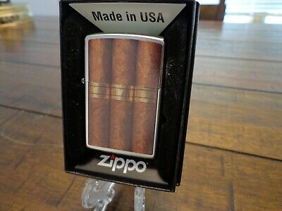 Cigar Bands Zippo Lighter Mint In Box