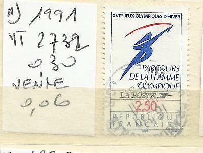 Timbre France Oblitere Annee 1991 N° 2732 (1)