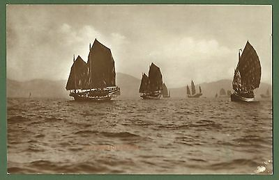 Chinese Junks off Shangai, Universal Postcard & Picture Co. Shanghai