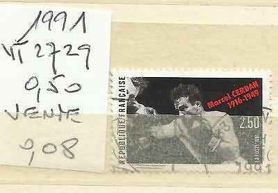 Timbre France Oblitere Annee 1991 N° 2729 (1)